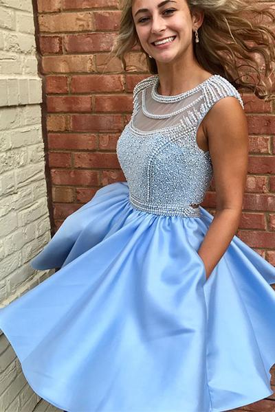 Backless Short Prom Dresses