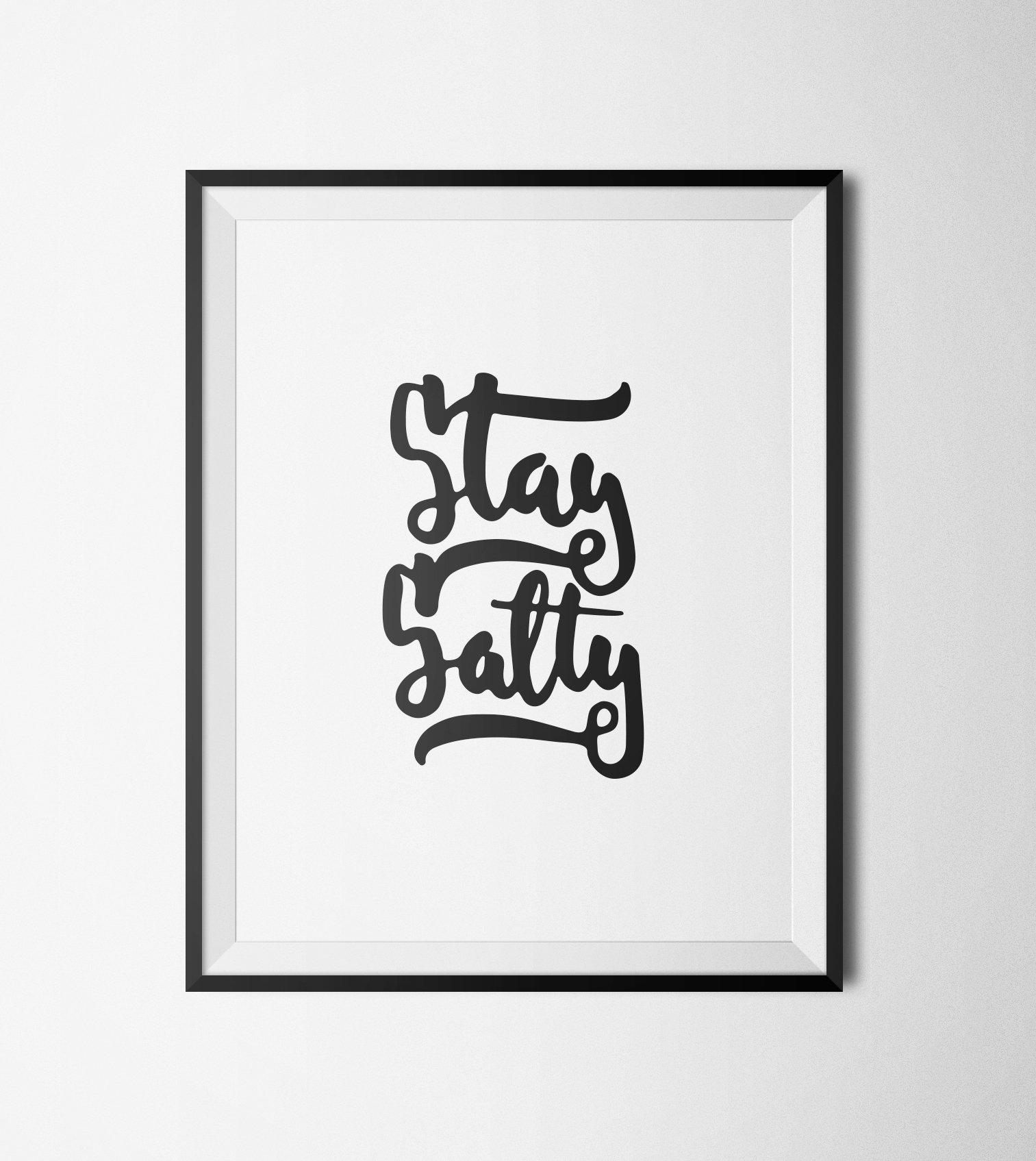 image about Printable Motivational Posters named Motivational Poster, Are living Salty Printable Quotation, Typography Wall Artwork, Printable Artwork, Typography Print, Estimate Posters against Deliver A Wake Studio