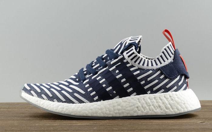 2018 Adidas NMD R2 glitch Collegiate Navy blanco rojo bb2909 para venta