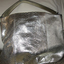 CALVIN KLEIN GOLD METALLIC HOBO HANDBAG PURSE