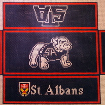 St. Albans Brick Cover Canvas on 13 Mesh