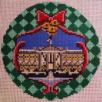White House Ornament Canvas on 18 Mesh