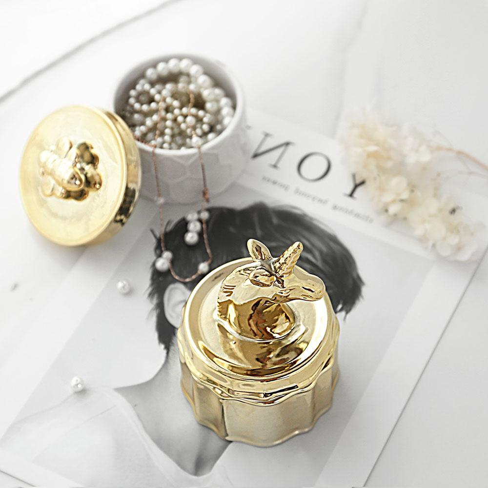 ceramic unicorn jewelry box trinket box vanity box home office wedding decor