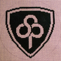 St. Patrick's Day School Ornament Canvas on 18 Mesh