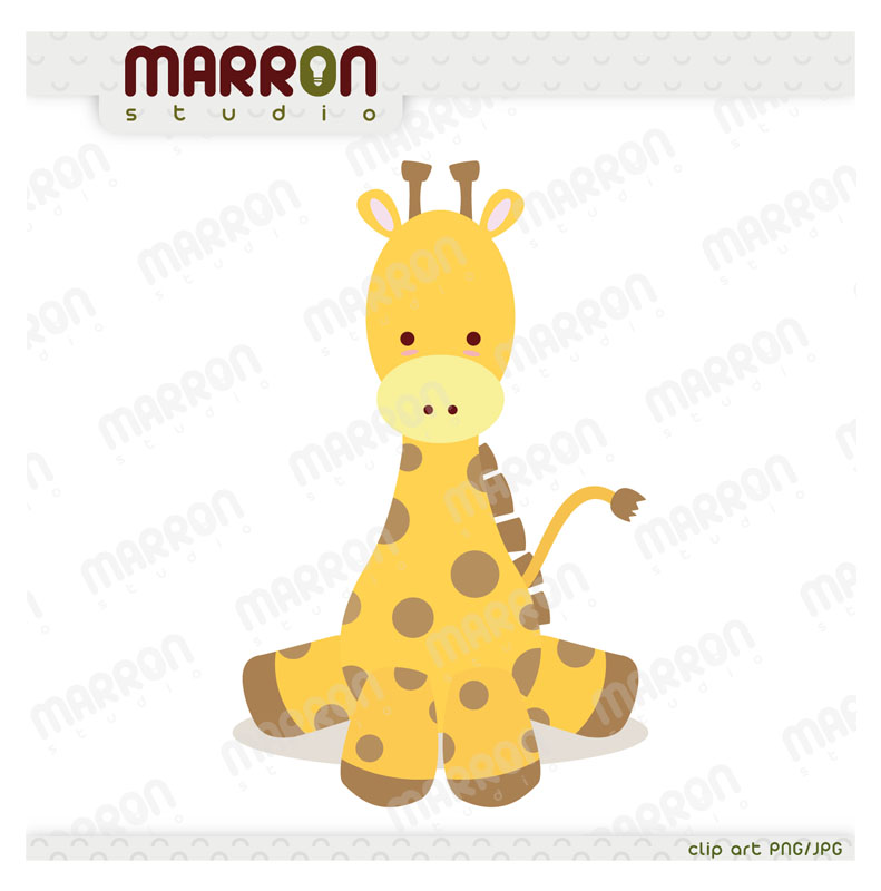 marron studio cute baby giraffe kawaii style clipart online rh elmarron storenvy com cute baby giraffe clip art cute baby giraffe clip art