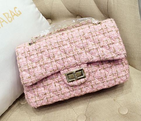 df866c72cb94 Luxury Brand Inspired Pink Tweed Shoulder Bag. Pink Handbag Sling Bag on  Storenvy