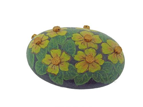 Hand painted rocks home decor painted rock flower paperweight home decor painted rock flower paperweight free usa shipping mightylinksfo