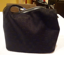 "BLACK ""GUCCI"" MONOGRAM HANDBAG!!!!!!!!!"