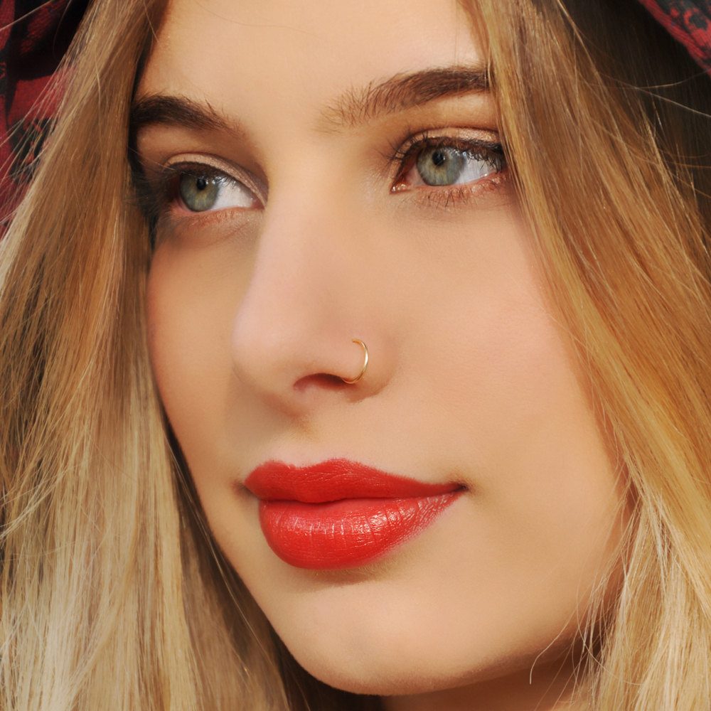 16g Gold Open Nose Hoop Raw Body Piercing Online Store Powered