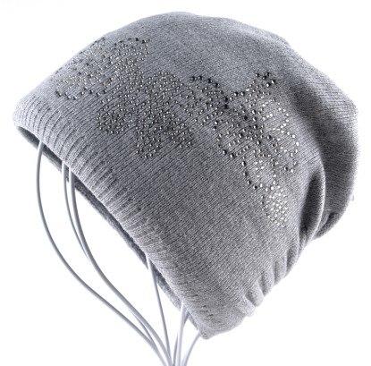 4bd5a7366ee 2018 Winter Ladies Knit Hats For Women Beanies Hat Flower Diamond Beanie  Brand Touca Knitted Cap