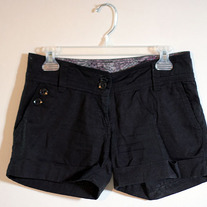 Cute Black Cuff Shorts from H&M