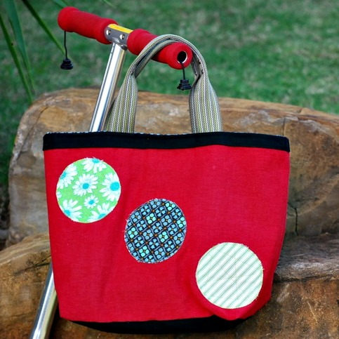 Handbag - Red Linen Tote - Mother's Day Special - Was $65 Now $40