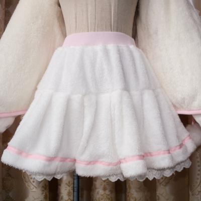 New fashion cute sweet warm plush skirt