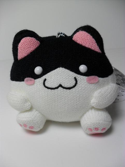 Amigurumi Alpacasso : Maruneko amigurumi black white cat cm plush keychain