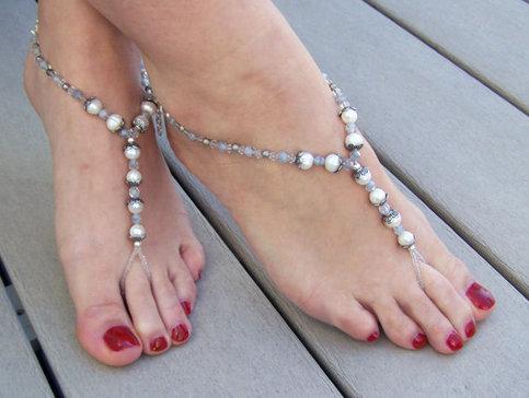 Beach Foot Jewelry Vintage Beach Wedding Bridal Barefoot