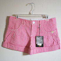 Berrylicious Pink Stripe Shorts by Insight (Brand New)