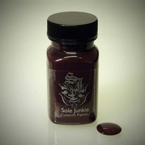 2oz SOLE JUNKIE CUSTOM ACRYLIC SNEAKER SHOE PAINT - BURGANDY