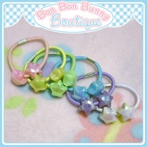 Tiny Treat Ponytail Elastic - Star Beads