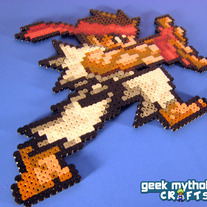 Custom Colored Ryu Street Fighter Bead Sprite - Chibi Hadoken Pose