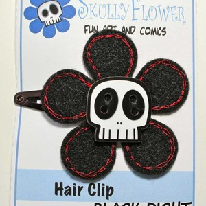 Skull Flower Hair Clips