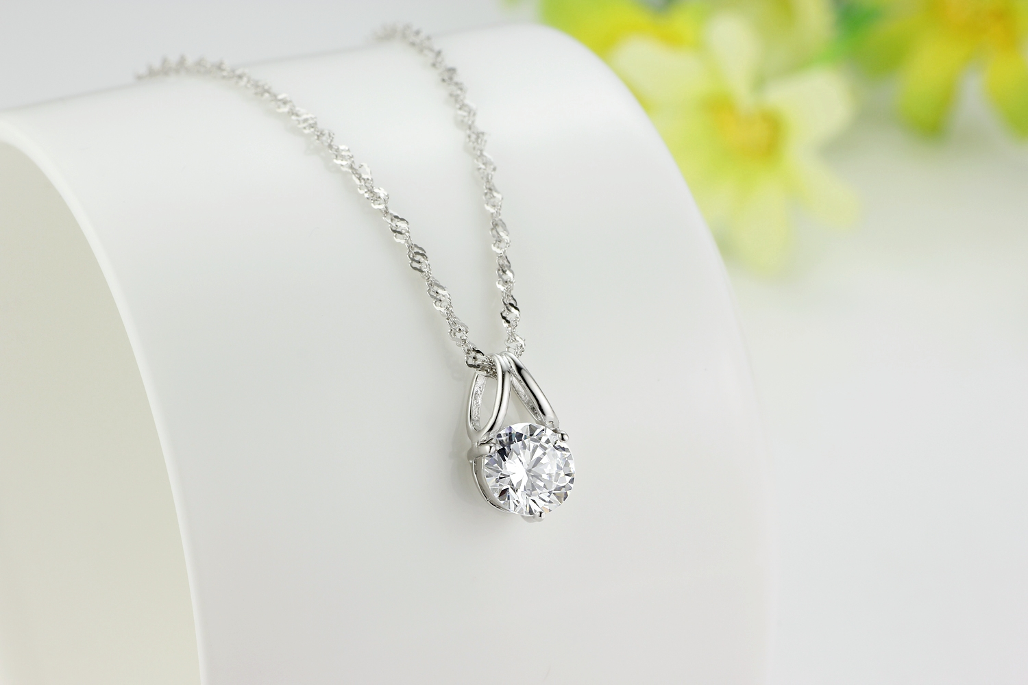 Genuine 925 sterling pendant necklace paved two circles cubic genuine 925 sterling pendant necklace paved two circles cubic zirconia stone and 18 inch silver chain mozeypictures Image collections