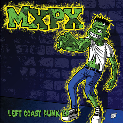 "Mxpx ""left coast punk ep"" 7"" (w/ download code) ***glow in the dark / halloween'13 edition***"