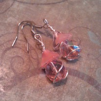 Peachy Flower Top Earrings
