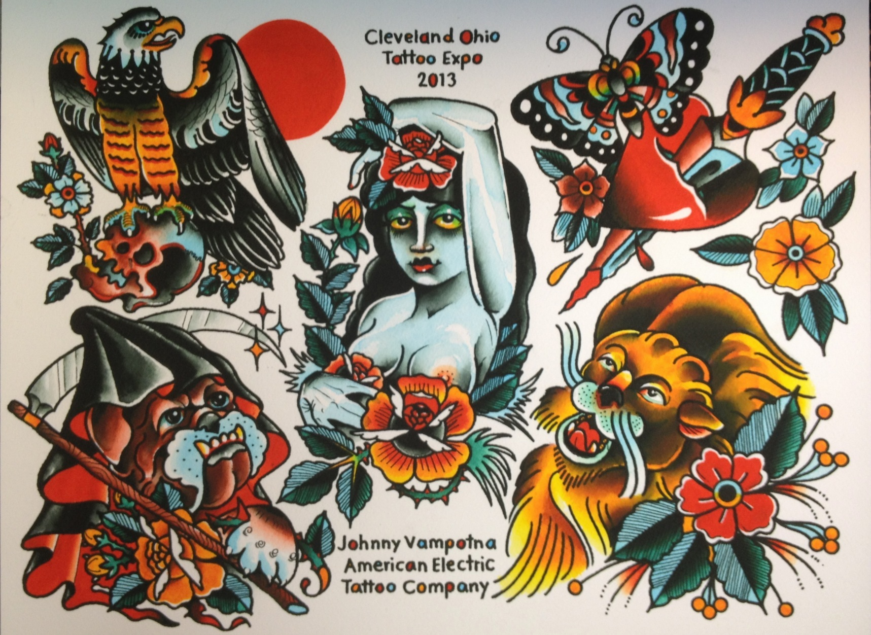 American Traditional Tattoo Flash Submited Images
