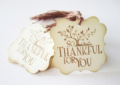 Vintage Inspired So Thankful Thank You Tags