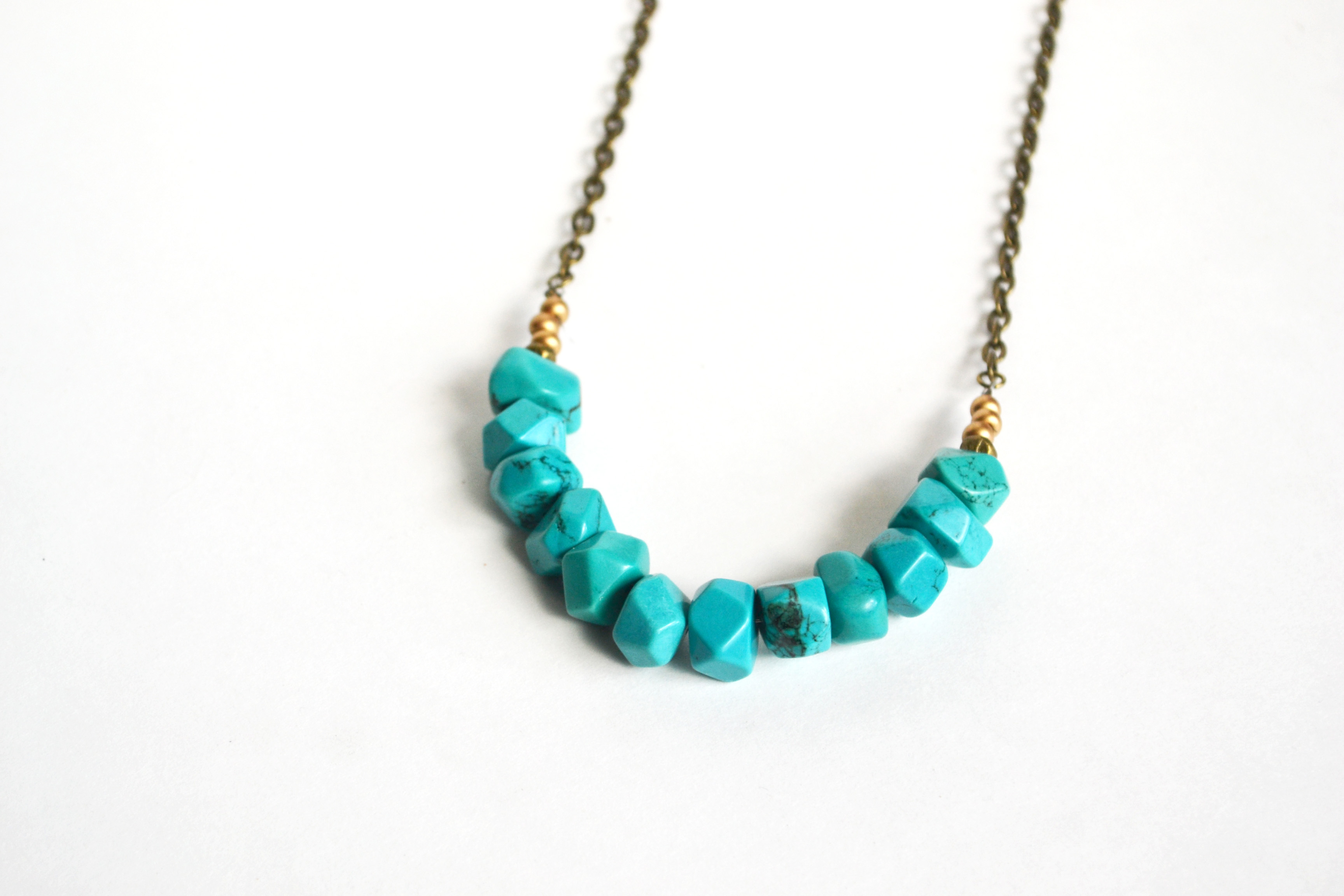 tribal turquoise necklace tribal inspired necklace