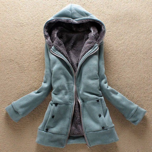Womens Long Fleece Coat - Coat Nj