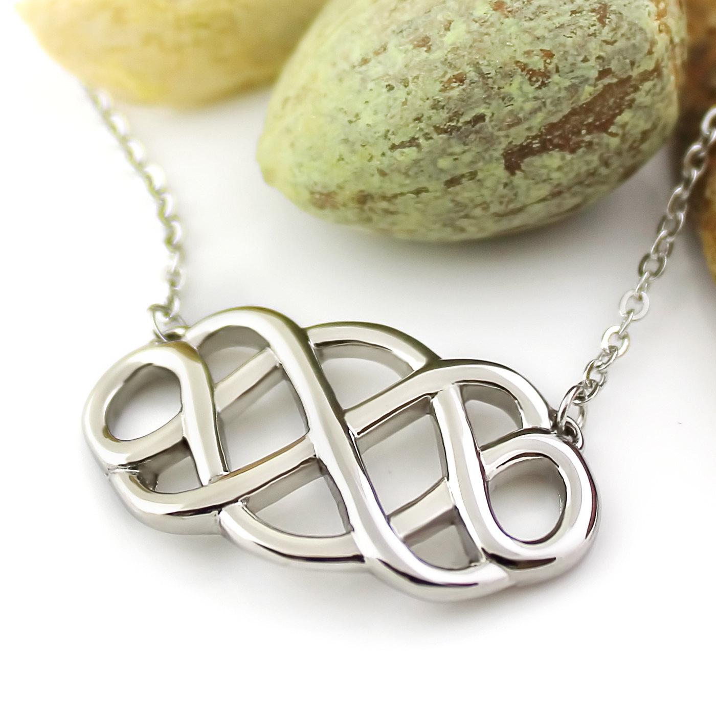 Medium Double Infinity Necklace Infinity Symbol Pendant Unisex