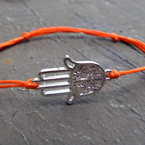 Hamsa Bracelet available in 10 colors!