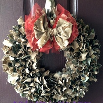 Multi Color Military Cammie Wreath WITHOUT Nametapes