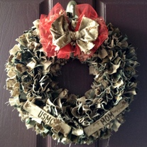 Multi Color Military Cammie Wreath WITH Nametapes