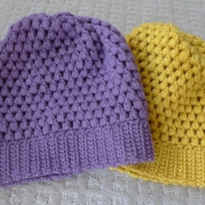 Puff stitch slouch hat