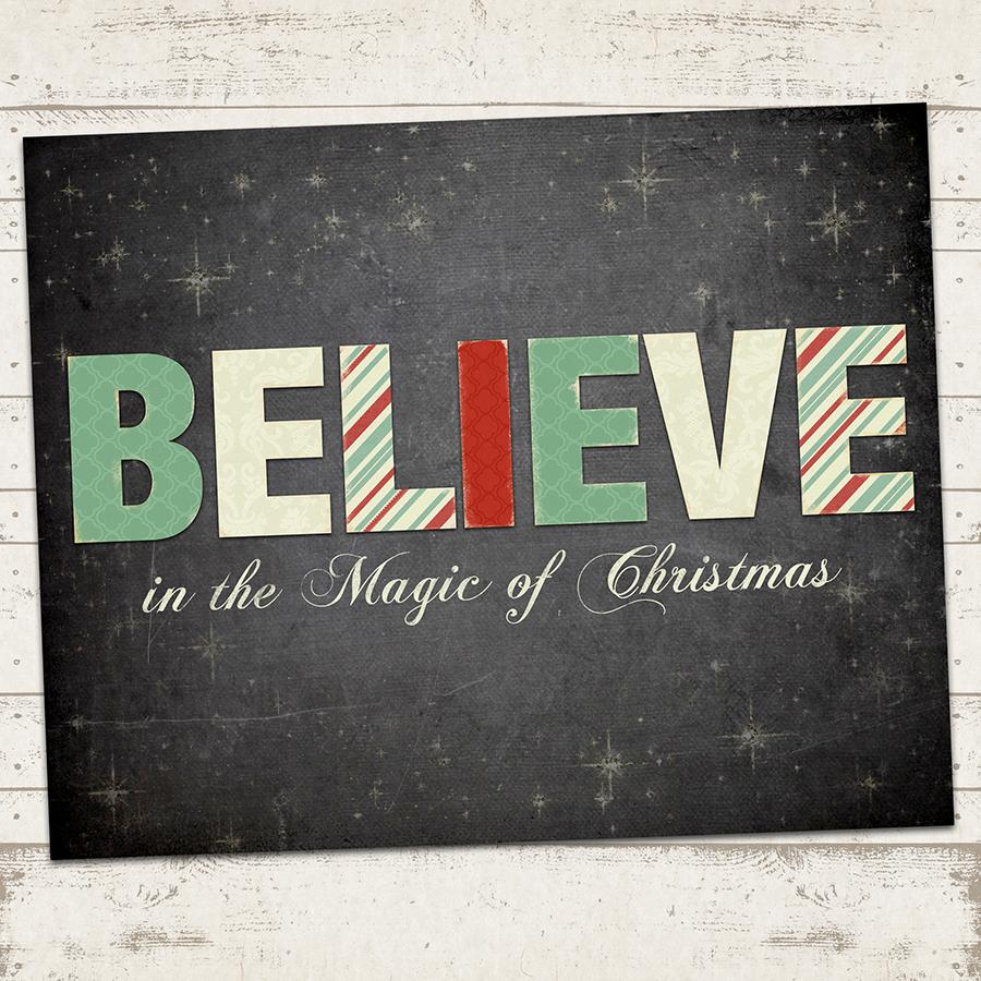valerie pullam designs christmas art print believe in