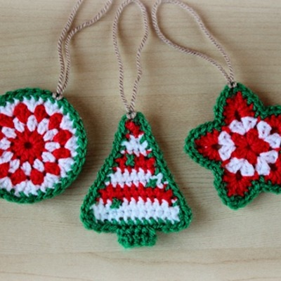 Christmas ornaments - set of 3