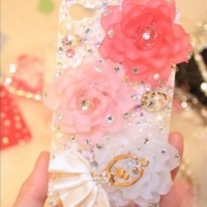 New Three Colors Flowers Ballet Girl iPhone 4/4S Case (#441)