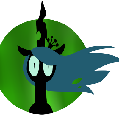 Simplistic queen chrysalis sticker