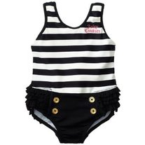 Juicy Couture Girls Ruffle Swim Suit