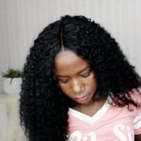Extra Beauty Curly Human Hair Wig glue-less handmade wig  - Thumbnail 2