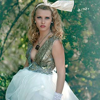 Eco-paris couture marie antoinette  tattered party dress/bridesmaid dress