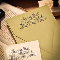 Custom Calligraphy Address Stamp (All Handwritten - ELLE Style) - Thumbnail 4