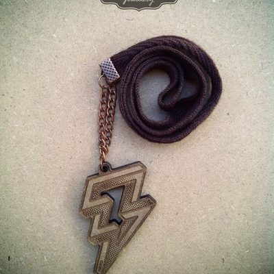 Lightning halftone necklace