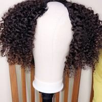 Curly U-Part Human Hair Wig (Everyday Wig) - Thumbnail 1