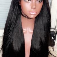 Straight Human Hair Wig (Handmade) - Thumbnail 1