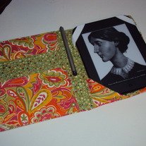 Handmade Kindle or Nook Cover Orange