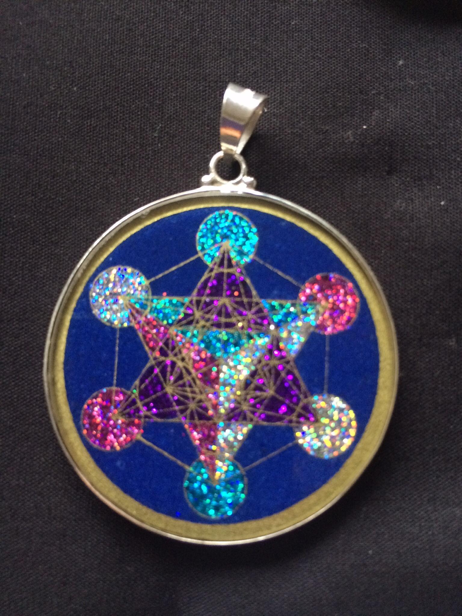 Metatron 39 s cube pendant rainbows of healing boutique for Metatron s cube jewelry