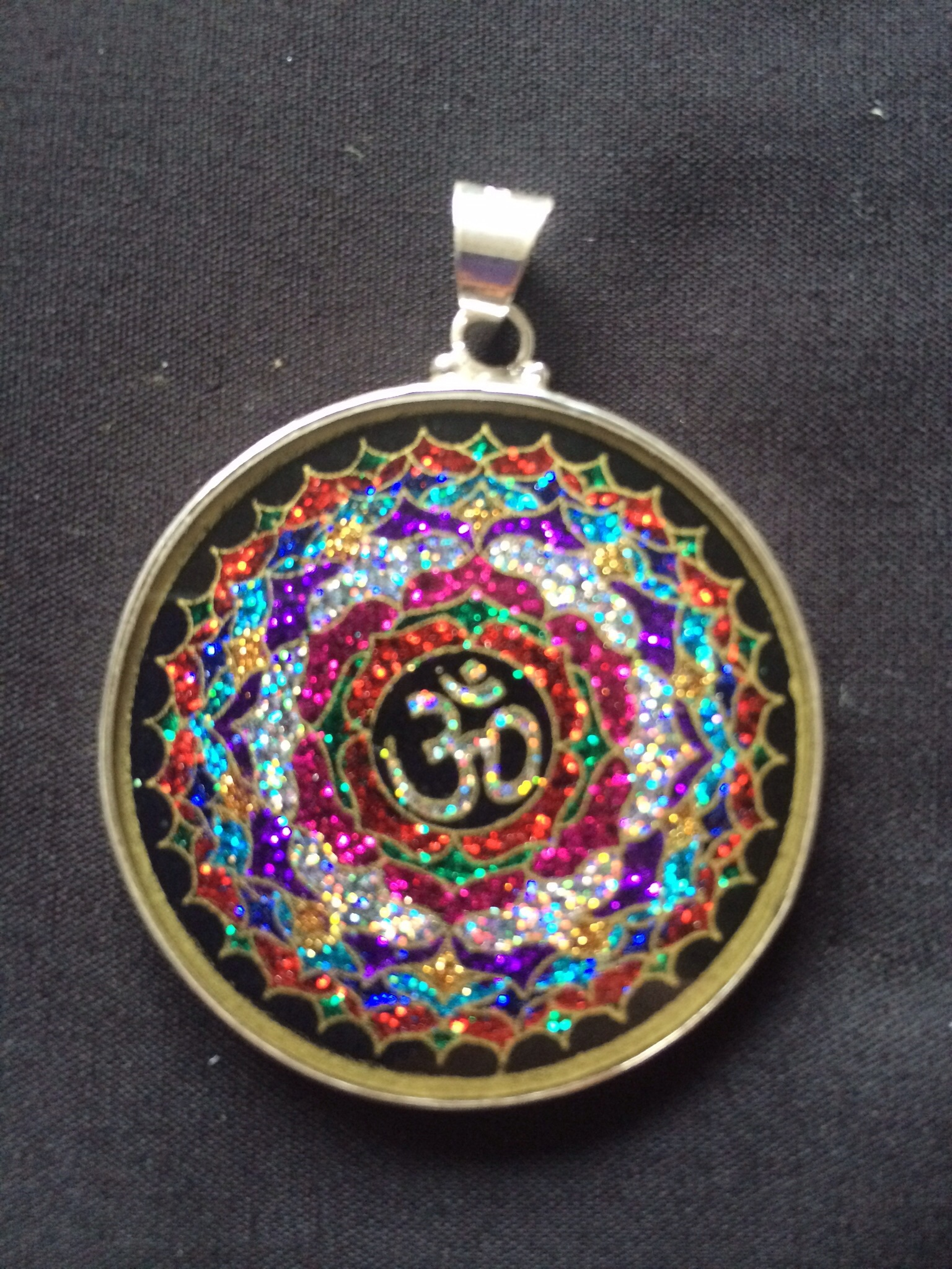 Om sacred geometry pendant rainbows of healing boutique online om sacred geometry pendant aloadofball Gallery